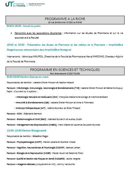 programme pharma JPO