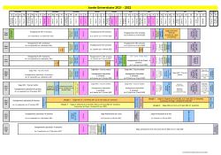 Calendrier Pharmacie 2021-2022